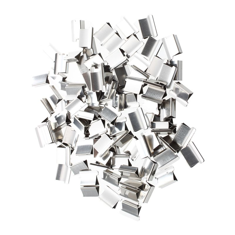 100 Pcs 15mm X 10mm X 5mm Metal Reusable Refill For Clam Clips Dispenser