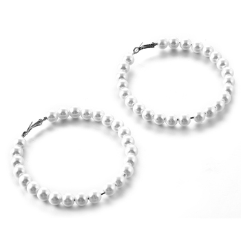 2019 New Fashion Big pearl Stud Earrings For Women Bohemian Statement Simulated pearl Earrings Hot Charm Jewelry 5
