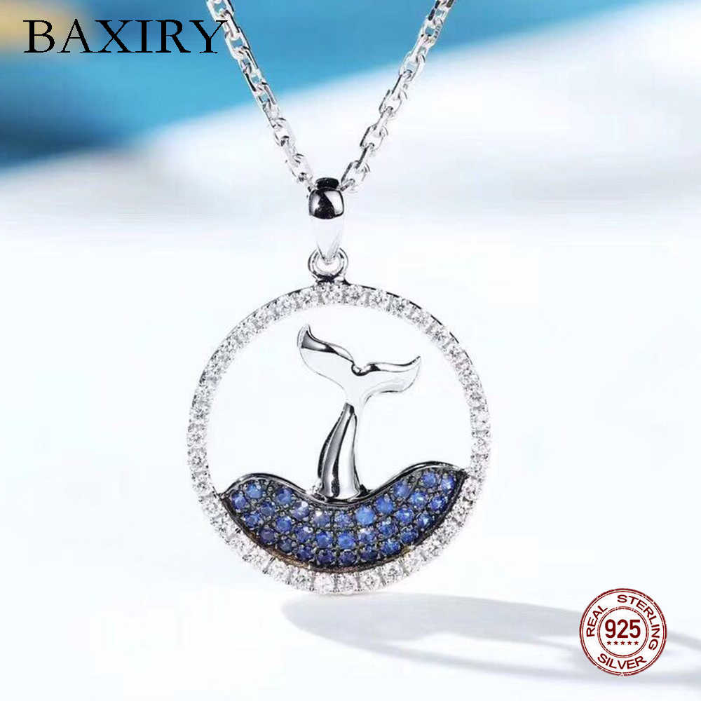 Jewelry Woman 2019 For Women Mermaid Tail Necklace 100% 925 Sterling Silver Swarovski Necklaces Eternity Fashion Mermaid Pendant
