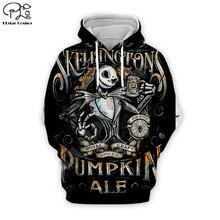 Pumpkin King Jack Skelling print Men 3d Hoodies skull Halloween women Sweatshirt tshirt pullover Christmas Corpse Bride Sally 01