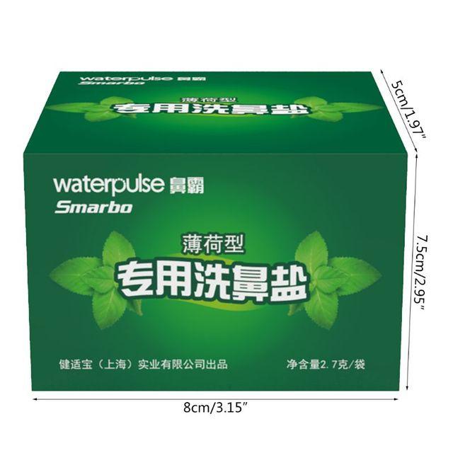 Sweet Mint Nasal Wash Salt 2.7g x 30 Nasal Rinse Mix Nose Irritation Irrigator  T4MB 3