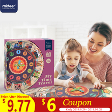MiDeer 25PCS Baby Puzzle Digital Clock Paper Puzzles for Kids Educational Children Toy Cartoon Gifts  Box
