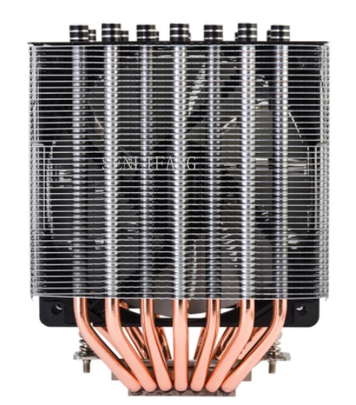 Free Shipping SE-207 CPU Cooler 7 Heat Pipe Double Tower Double Fan Side Blower Radiator All Metal Multi Platform Buckle