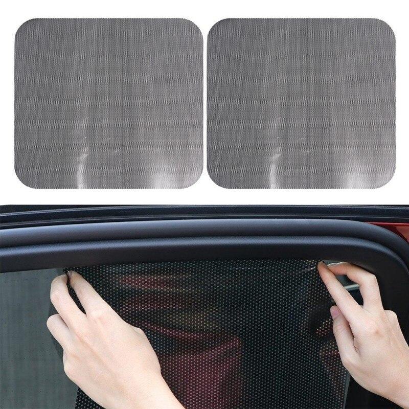1 Pair 72*52cm DIY Car Sun Shades Film Protection Window Cover Side Sun Shade Cover Block Static Visor Shield Screen Sticker