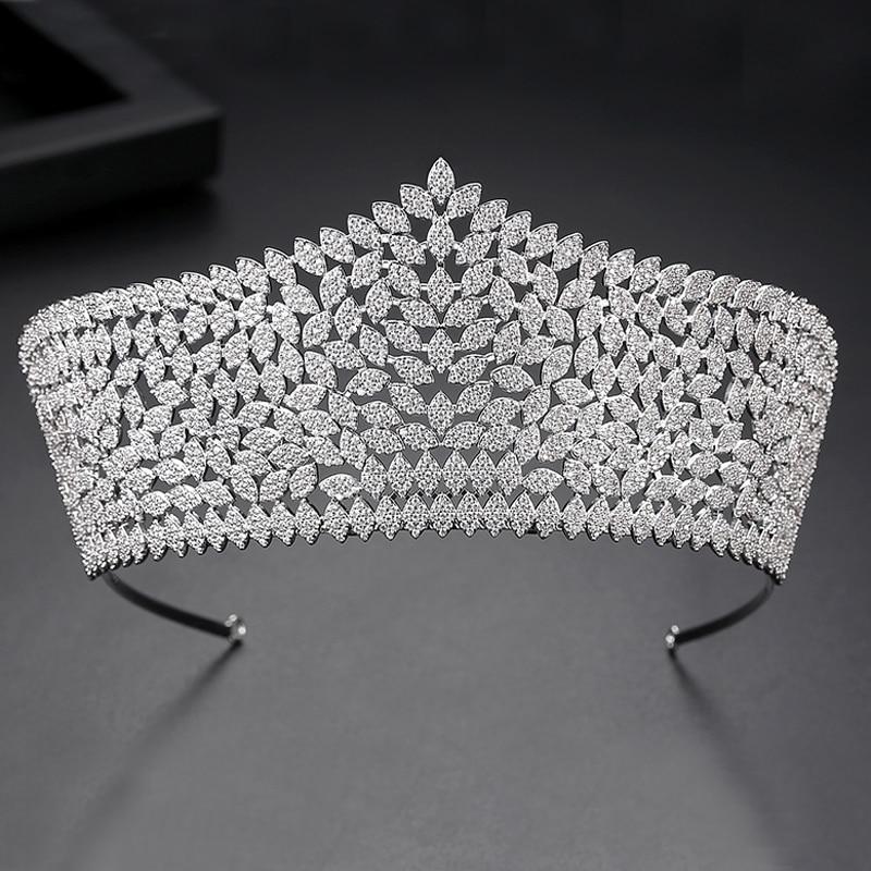 Asnora, новинка, корона, тиара, диадема, роскошные свадебные аксессуары для волос, удлиненные аксессуары для волос A00616 - 4