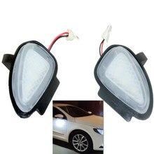 2PCs CANbus Led Under Side Mirror Puddle Light Module For VW Golf MK6 6 MKVI C45 Cabriolet White Led Lamp