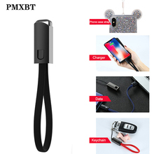 Portable Short Cable Keychain USB Charger For iPhone Xiaomi/Type C/Micro C Cord Fast Charge Sync Data Phone Cables Accessory