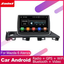 ZaiXi For Mazda 6 Atenza 2017~2019 Car Android Multimedia System 2 DIN Auto DVD Player GPS Navi Navigation Radio Audio WiFi