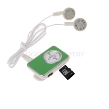 Mp3-Player Clip Earphone Media Support Micro-Sd-Card Music Mini TF with Usb-Cable