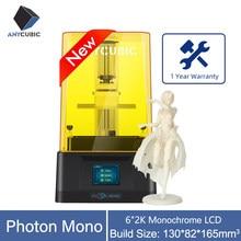 Nova impressora 3d anycúbico fóton mono sla/lcd alta velocidade resina impressão 130*82*165mm suporte app controle remoto impresora 3d