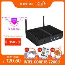 Ucuz fansız Mini PC Intel i5 7200U i3 7167U Windows 10 Barebone sistemi PC birim masaüstü bilgisayar Linux HTPC VGA HDMI WiFi 6 * USB