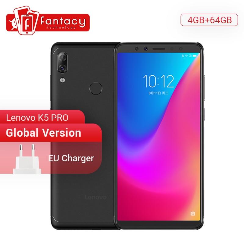 Global Version Lenovo K5 Pro 4GB 64GB Snapdragon636 Octa Core Smartphone Quad Cameras 5.99 inch Screen 4G LTE Phones 4050mAh