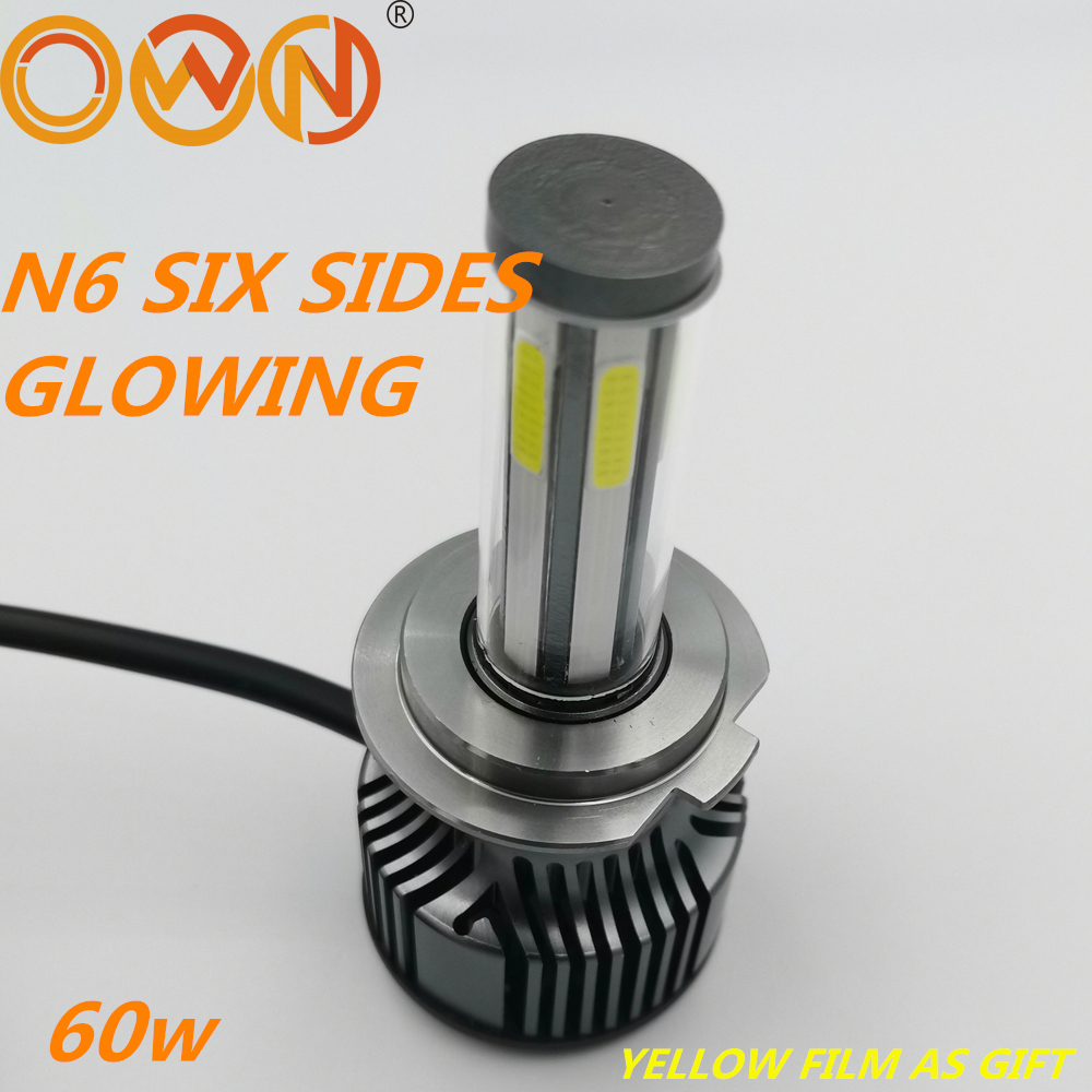 DLAND OWN N6 SIX SIDES 360 DEGREE GLOWING 6400LM AUTO CAR <font><b>LED</b></font> BULB LAMP 60W 12V <font><b>24V</b></font> H1 H3 <font><b>H4</b></font> H7 H11 H13 9005 9006 image