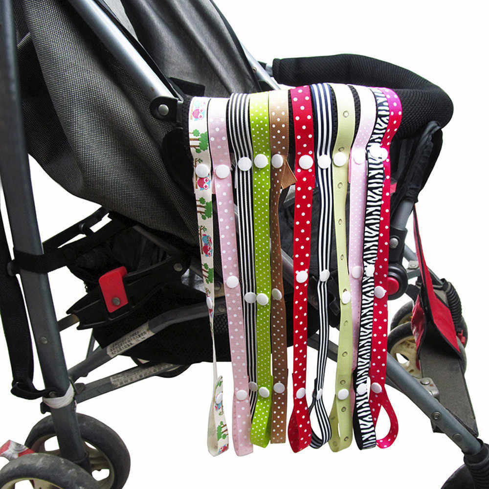 Baby Anti-Drop Hanger Belt Anti-lost Chain Strap Holder Belt Colorful Pacifier Clip For Stroller Strap Fixed Car Pacifier Chain