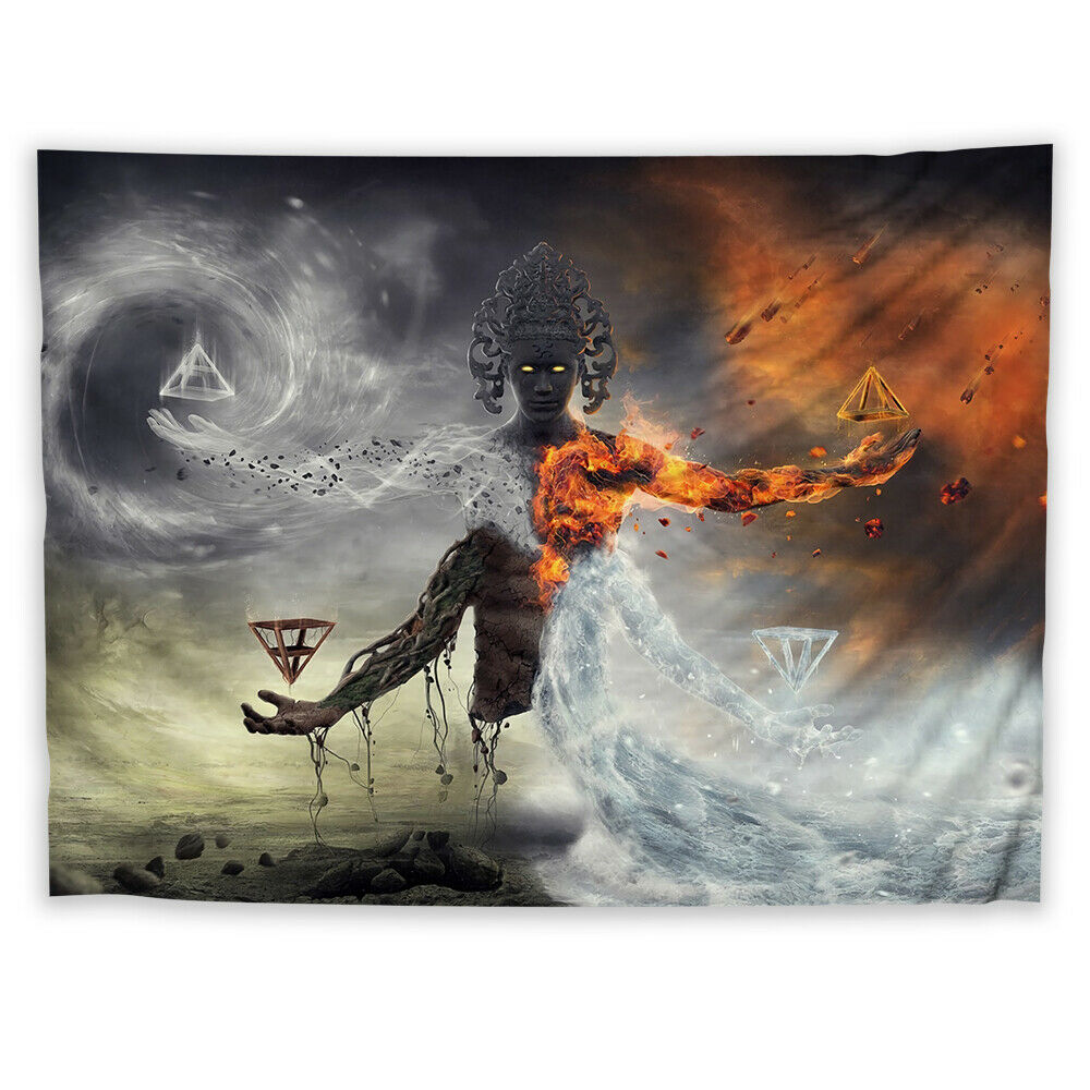 Fantasy Buddha Wall Hanging Tapestry Psychedelic Custom Home Decoration
