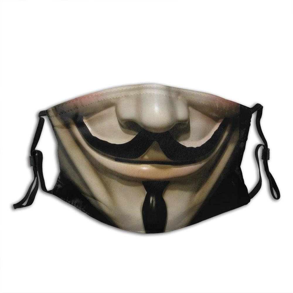 Lembre-se, lembre-se, o 5th de novembro máscara facial com filtro v para o filme de vingança culto filme vingança pensar guy fawkes
