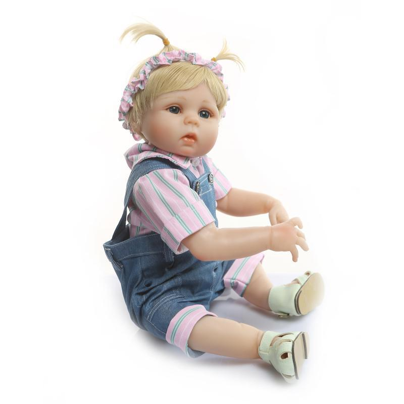 Silicone bébé poupée Reborn infantile bambin jouets filles jouets environ 48cm