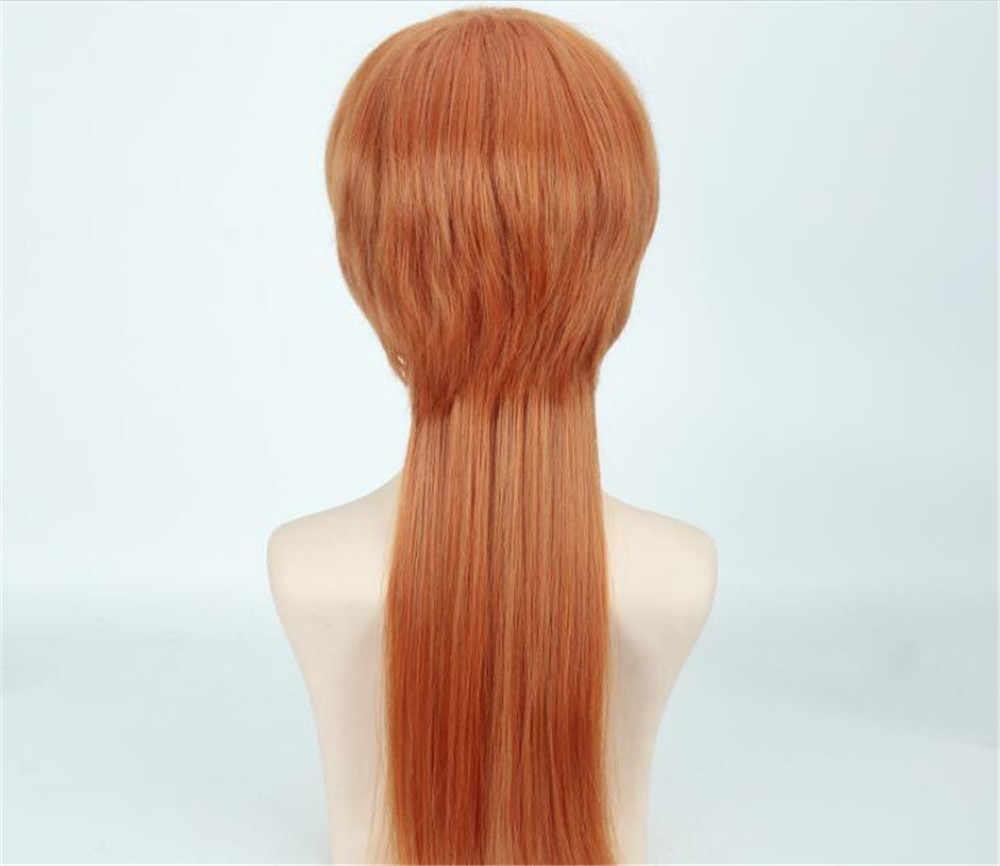 Anime Bungo Anjing Liar Chuya Nakahara Chuuya Coklat Oranye Warna Cosplay Kostum Wig C078