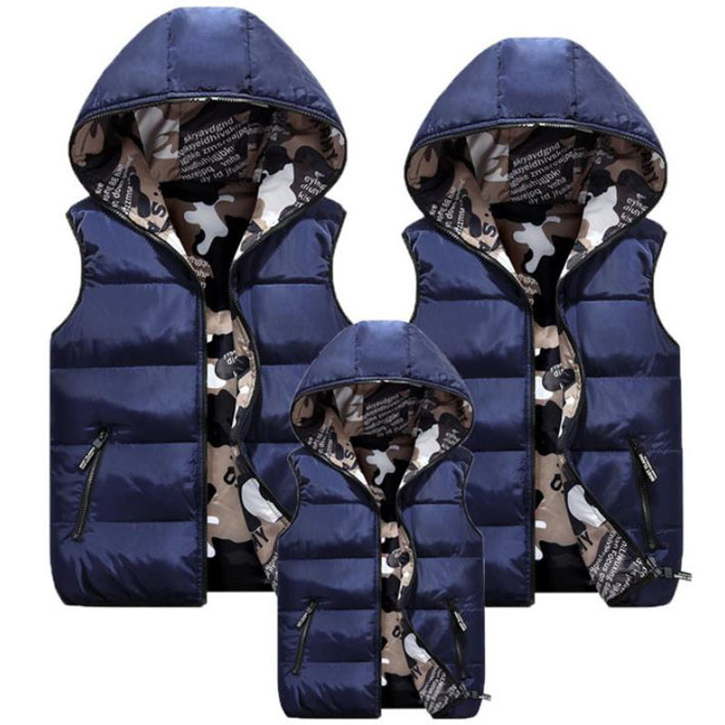 Family Matching Outfits Camouflage Child Waistcoat Cotton Girls Boys Vest Kids Jacket Children Outerwear For 100-185cm