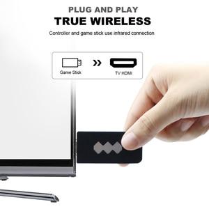 Image 4 - USB bezprzewodowy ręczny konsola do gier TV wideo budować w 1551 klasyczne 8 bitowych gier mini konsola podwójny Gamepad wyjście HDMI