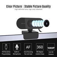 20 piezas cámara Web 1080P cámara Web micrófono integrado enfoque automático rotación de 360 ° 2Mega píxeles cámaras USB para Laptop conferencia de escritorio