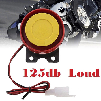 1pc Simple Design Motorcycle Electric Driven Air Raid Siren Alarm Safety Horn accessories Loud car horn 12V Car Truck Horn image