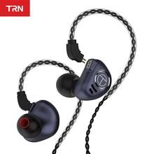 Trn v90 fones de ouvido 4ba 1dd unidades híbridas de metal alta fidelidade graves monitor com cancelamento ruído trn m10 vx v80 t2