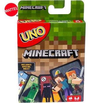 Juego de cartas Mattel UNO Minecraft, diversión, juguetes multijugador de alta diversión, diseños de juego de mesa de cartas, juguete de fiesta familiar