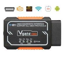 Vgate Elm327 WIFI bezprzewodowy skaner OBD2 Auto z chipem PIC18F2480 Adapter diagnostyczne narzędzie skanujące OBDII dla ios android