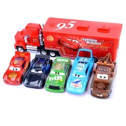 Cars 2 3 Disney Pixar Toy Car Green Harvester Frank  Lightning McQueen Alloy Toy Car Set 1:55 Diecast Model kids birthday Gift