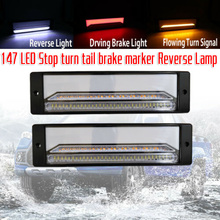 2 Pieces DC 10-30V 12Inch 147LED Taillight Rear Parking Stop Turn Signal Light For Car RV Trailer Truck Camper Reverse Light