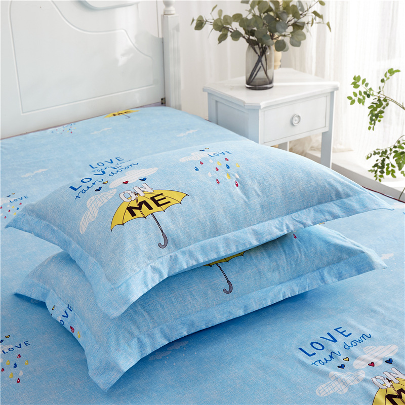 Manufacturers Direct Selling New Style Aloe Cotton Double Layer Bed Skirt Skin-Friendly Activity Four-piece Set Bedding Article