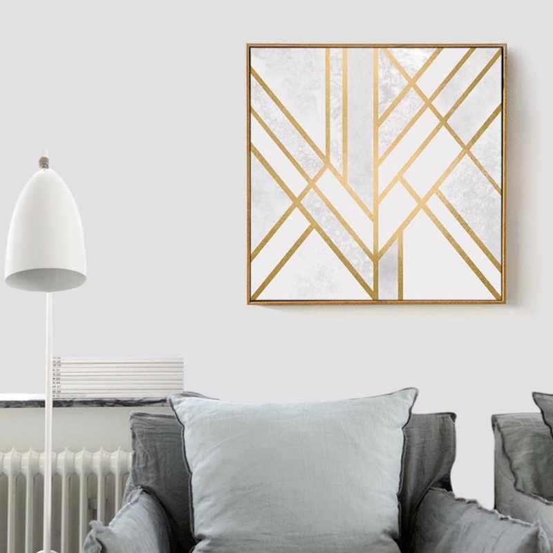 Metal nórdico linha abstraction Imagem Arte Pintura em tela HD Impresso Pintura Moderna Home Office Quarto Moda Decoração