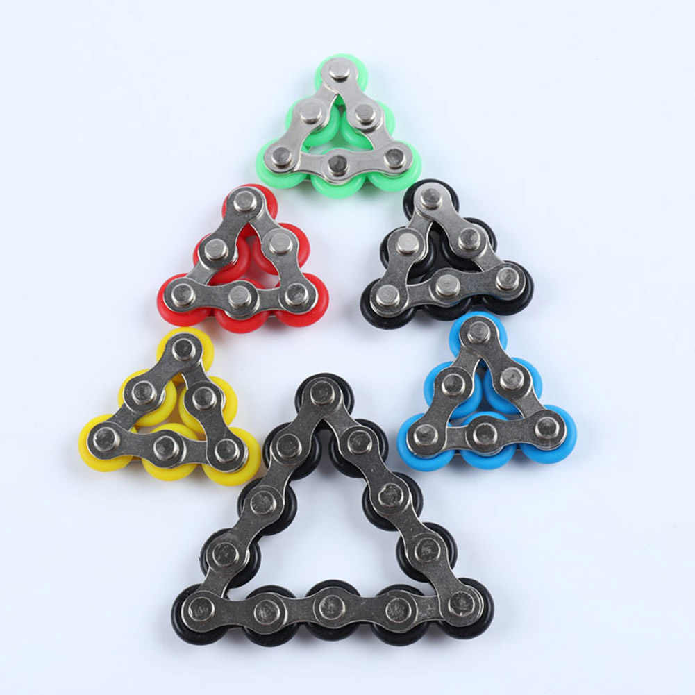 Rotated Fun ADHD Anxiety Mini Adults Kids Stress Reducer Roller Chain Fidget Toy
