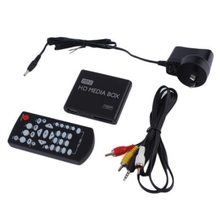 Mini Media Player 1080P Mini Hard Disk Media Box TV Box Video Multimedia Player US Plug