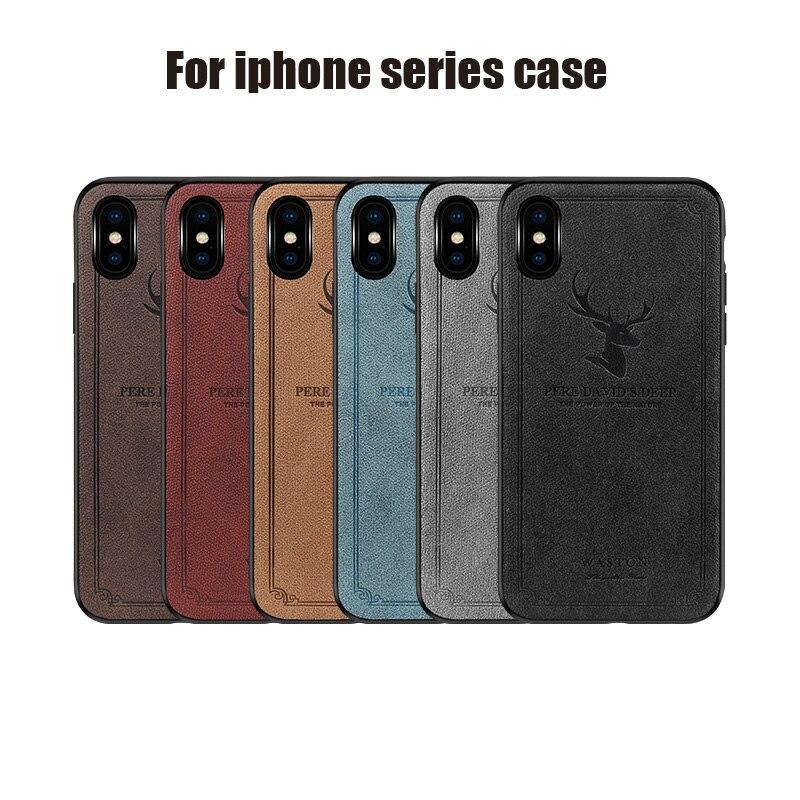 Для iphone мобильный телефон чехол для iphone xsmax голова оленя защитный чехол типа «два-в-одном» кожа мобильный телефон чехол