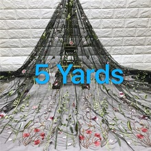 Gary Sales African French Lace Fabric High Quality Tulle Net Lace Fabric 5 Yards Embroidery Nigerian Lace Fabric For Women