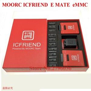 Image 2 - Nowy MOORC wysokiej prędkości E MATE X E MATE BOX EMATE EMMC BGA 13in 1 dla 100 136 168 153 169 162 186 221 529 254 Z3X łatwe Jtag