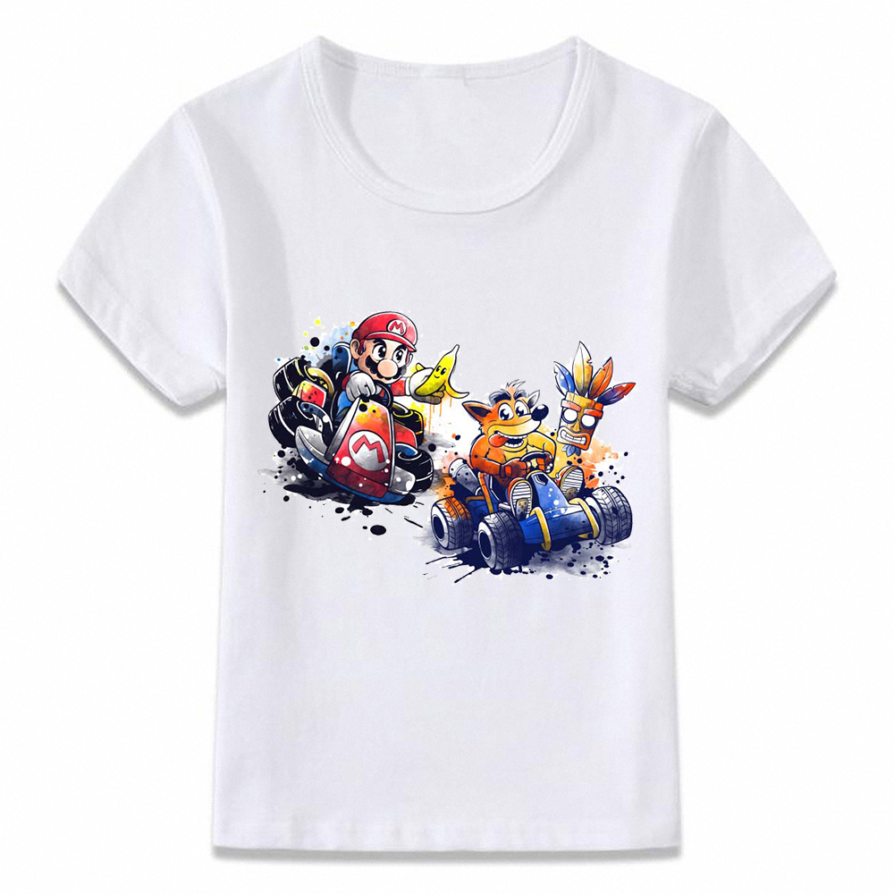 Kids Clothes T Shirt Mario Crash Bandicoot Spyro T-shirt For Boys And Girls Toddler Shirts Tee
