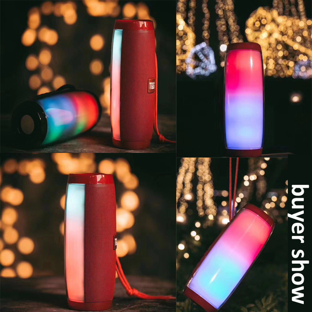 Powerful Bluetooth Speaker Boombox Wireless Speaker LED Light Support TF card AUX cable with MIC for Smartphone PC Computer 3