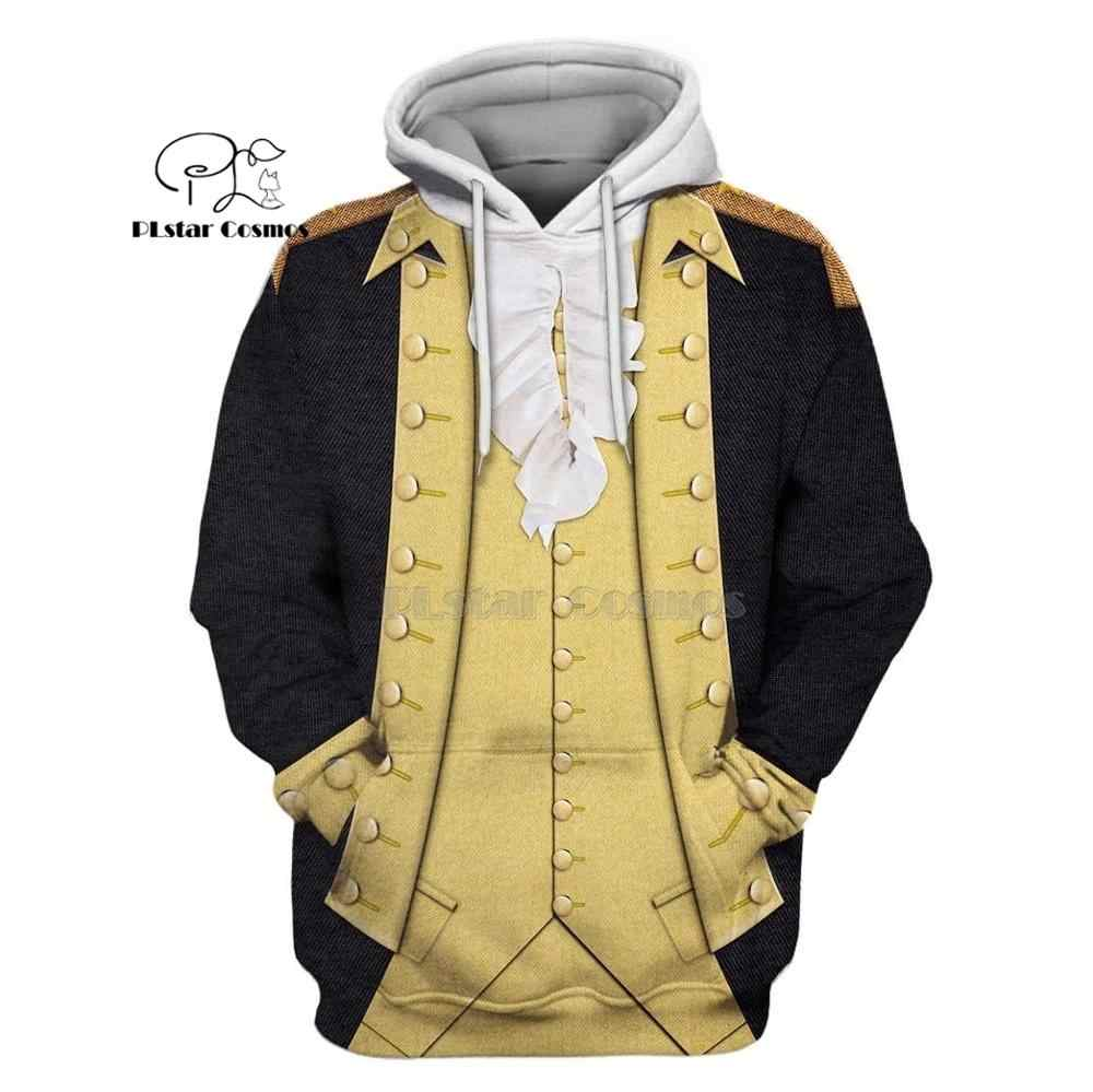 PLstar Cosmos Full-Print George Washington suite 3d hoodies/shirt/Sweater Winter herfst grappige Harajuku Lange mouw streetwear