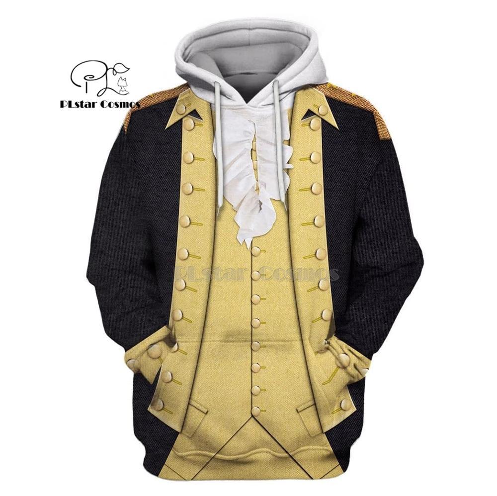 PLstar Cosmos Full-Print George Washington Suite 3d Hoodies/Sweatshirt Winter Autumn Funny Harajuku Long Sleeve Streetwear