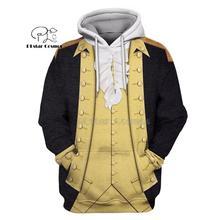 PLstar Cosmos Full-Print George Washington suite 3d hoodies/shirt/Sweatshirt Winter autumn funny Harajuku Long sleeve streetwear