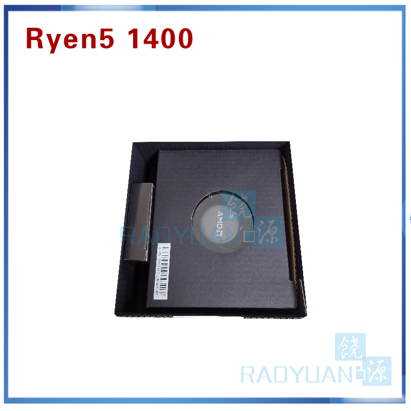 Image 4 - New AMD Ryzen 5 1400 R5 1400 R5 1400 3.2 GHz Quad Core CPU Processor YD1400BBM4KAE Socket AM4 with cooling fan-in CPUs from Computer & Office