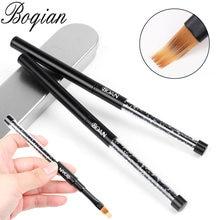 Bqan preto ombre escova uv gel escova de unhas strass lidar com pintura caneta desenho escova gradiente preto unha arte escova caneta ferramentas