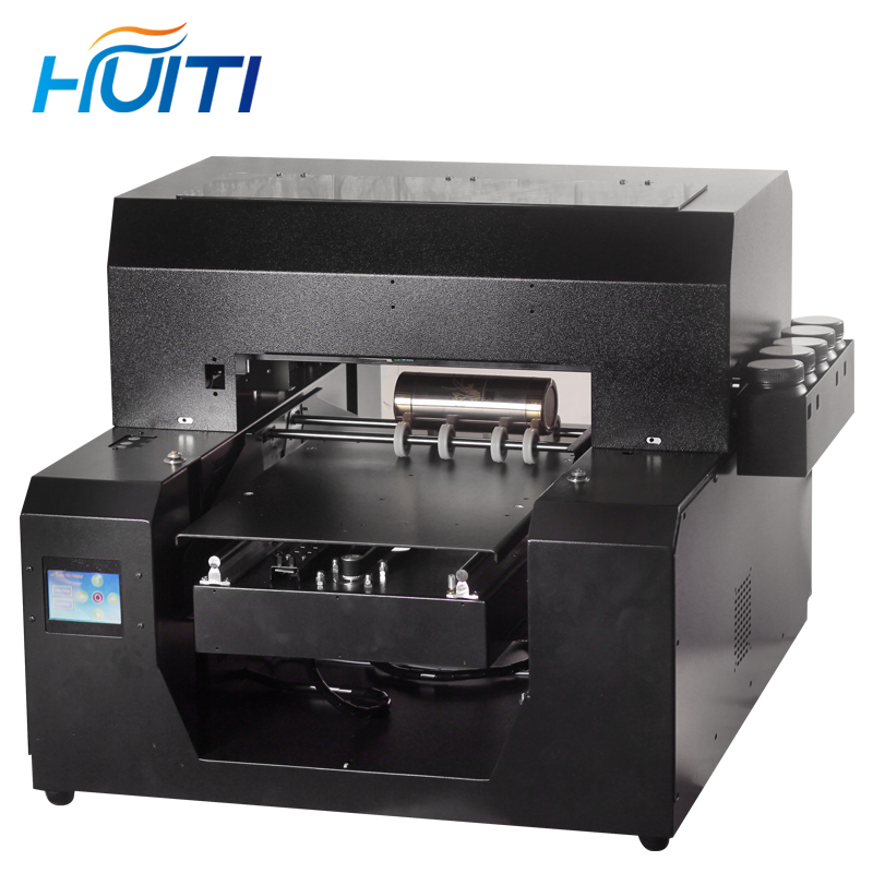 Huiti,A3 Size Automatic Cylinder Bottle Phone Case UV Flatbed Printer.Bottle And Flat 2-in-1 A3 UV Printer
