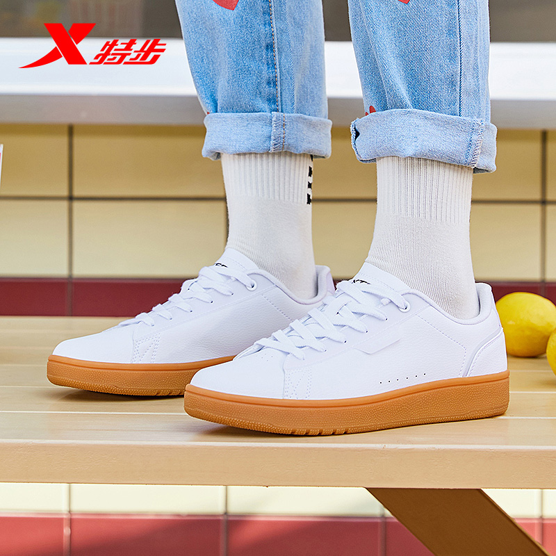 Xtep Classic Casual Retro Sneakers Women's Casual Sneakers Outdoor Sports <font><b>Shoes</b></font> Simple And Comfortable 880218310062 image