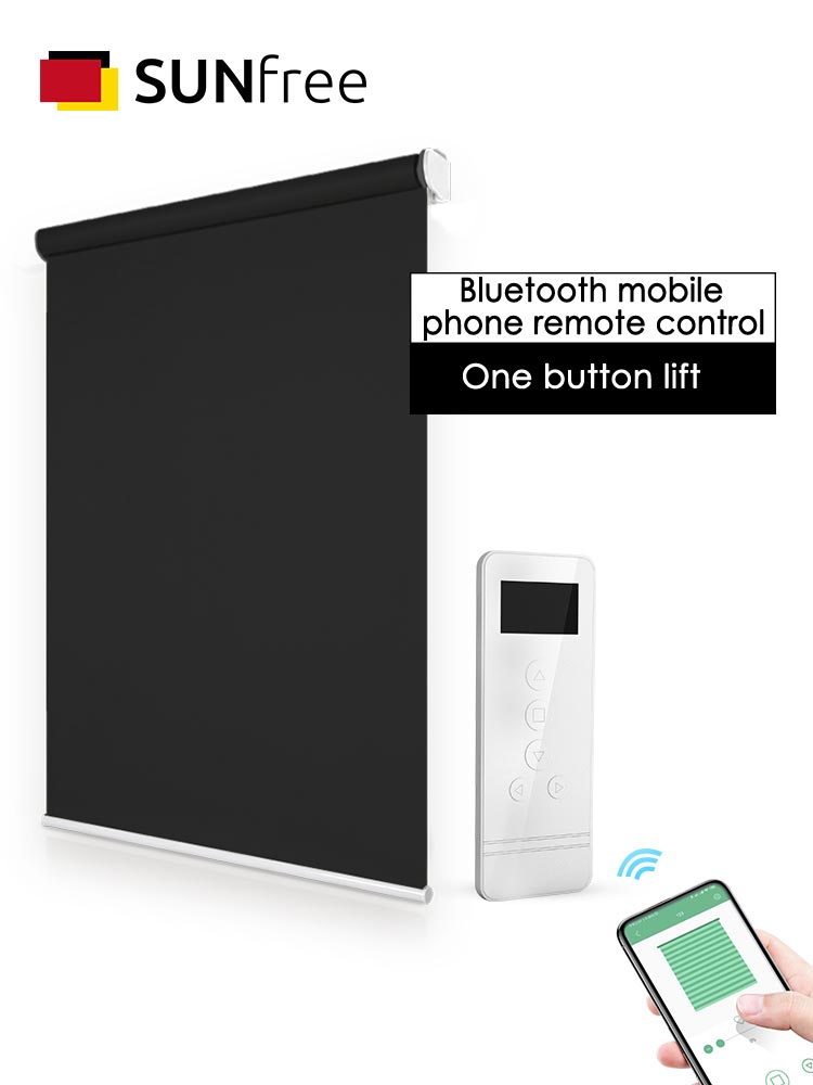 Bluetooth Control Motorized Blinds DC12V Tubular Motor Electric  Window Blinds For Office/Living Room/Bedroom Customized Size