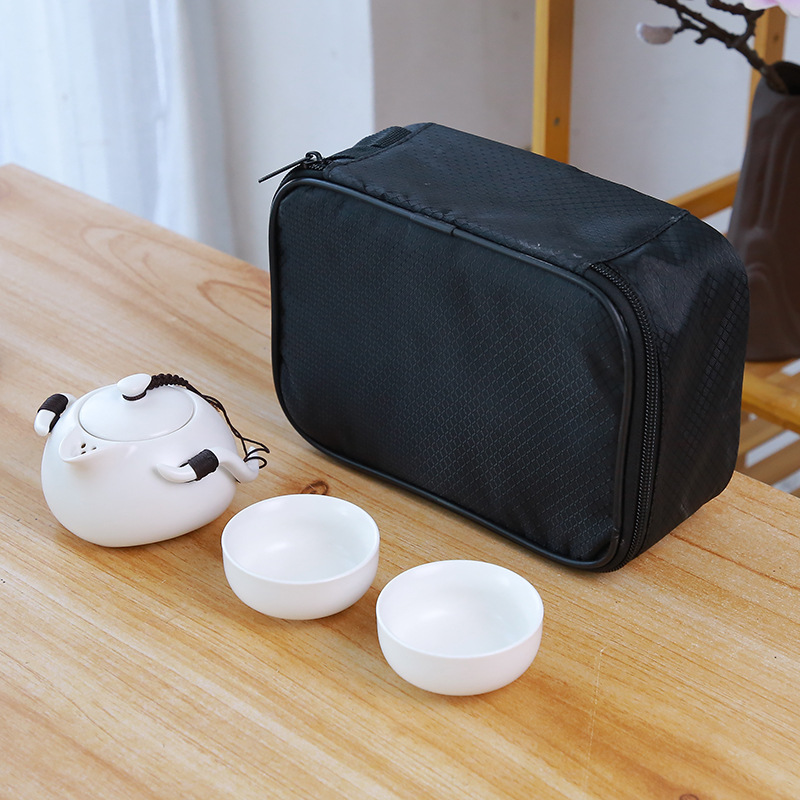 Ceramic teapot kettle gaiwan Chinese Travel Ceramic tea cup for puer chinese tea pot portable tea set drinkware