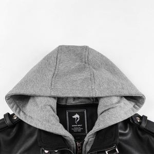 Image 4 - Hot البيع الخريف الشتاء دراجة نارية سترة جلدية الرجال سترة واقية مقنعين بولي Jackets السترات الذكور أبلى الدافئة فو سترات من الجلد 2020
